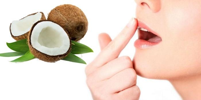 Bôi dầu dừa lên môi để qua đêm - dưỡng môi trị thâm siêu hiệu quả 1
