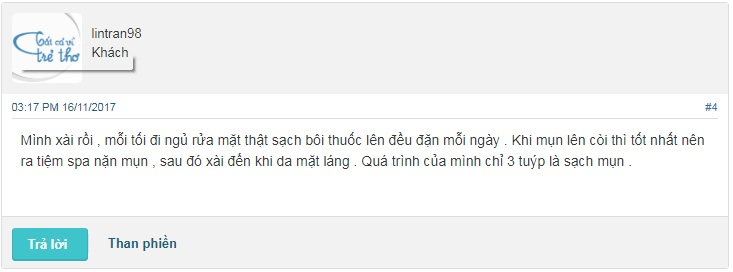 kem trị mụn erossan reviews webtretho